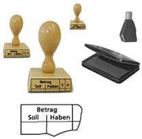 Holzstempel als Buchungsstempel / Kontierungsstempel