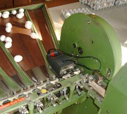 Automatisches Eierstempeln: jetStamp 792E für BENHILL 35 Sortieranlage