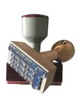 Holzstempel-Griff und Kunststoff-Stempelgriff