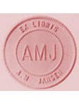 rosa Papier mit Papierprägepresse bzw. Trockenprägestempel hochgeprägt