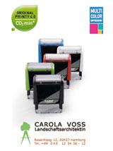 Printy Stempelautomaten mit integrierten Stempelkissen in verschiedenen Farben