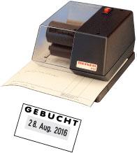 Elektrische Kontierungsstempel REINER 510 mit Datum
